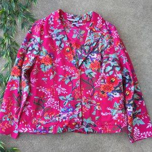 Isaac Mizrahi Floral Printed Knit Blazer - NWOT